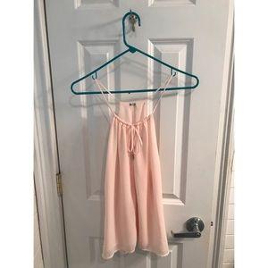 Cute chiffon pink blouse